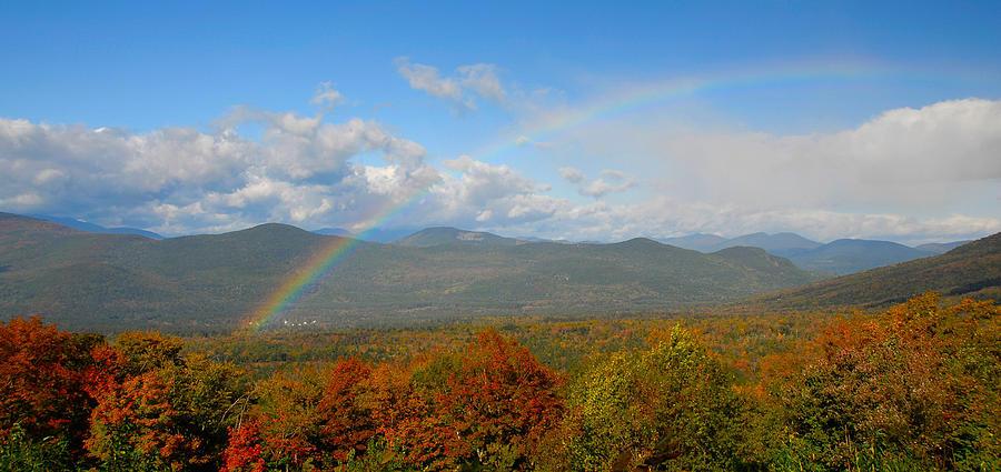 Rainbow Photograph - Rainbow Over Bartlett Nh by Ken Stampfer