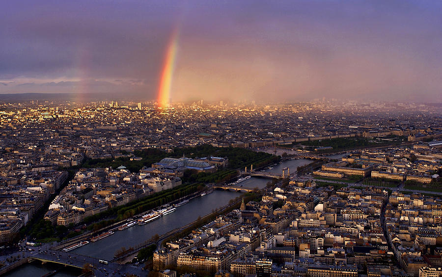 Rainbow Over Paris by Steve White