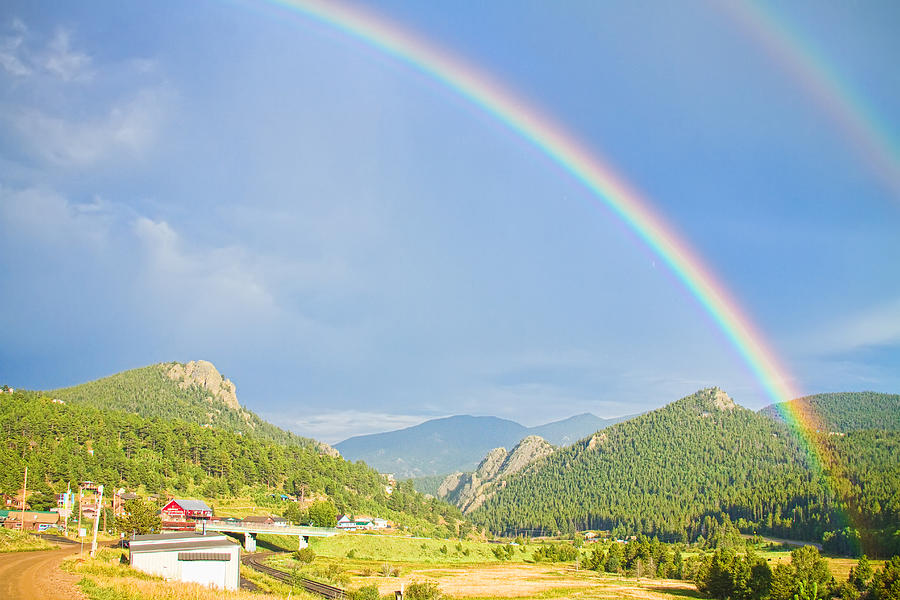 Rainbows Photograph - Rainbow Over Rollinsville by James BO  Insogna