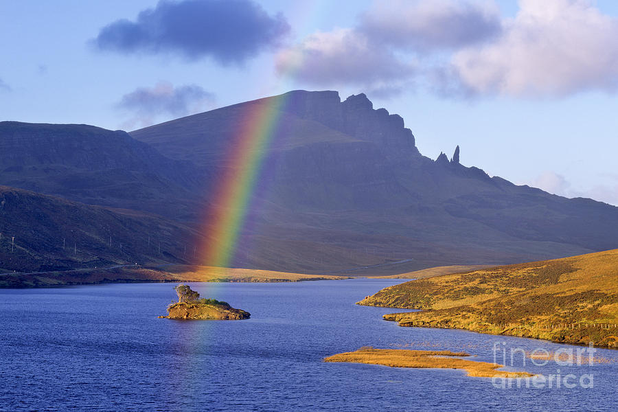 Rainbow Photograph - Rainbow Over The Storr by Derek Croucher