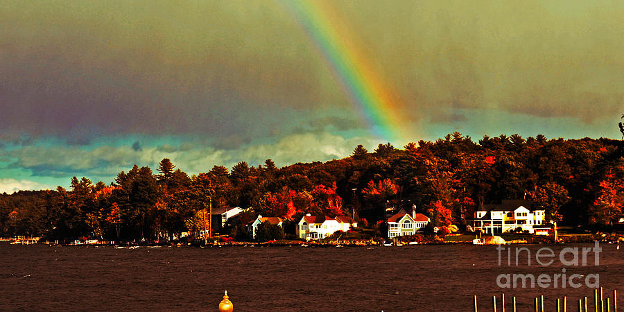 Rainbow Photograph - Rainbow Over Winnipesaukee Two by Kevin Fortier