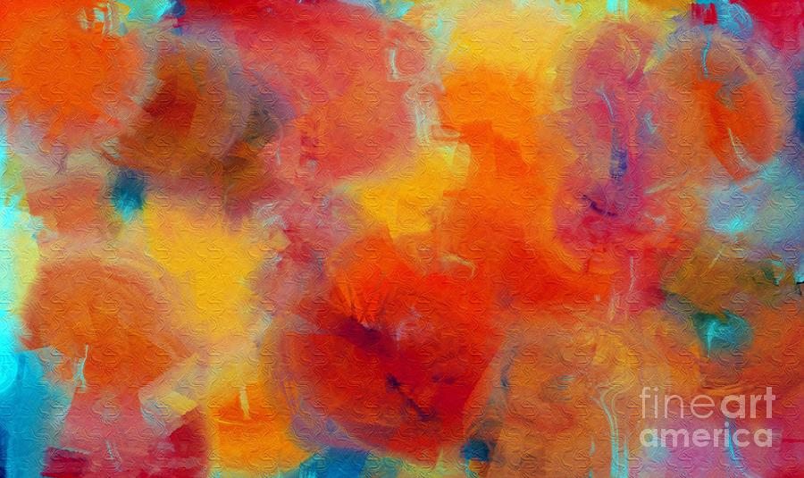 Abstract Digital Art - Rainbow Passion - Abstract - Digital Painting by Andee Design
