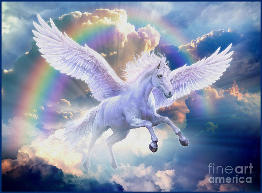 Rainbow Pegasus Digital Art by MGL Meiklejohn Graphics Licensing f51ab7d5e656