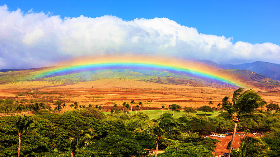 Maui Photograph - Rainbow by Robert  Aycock