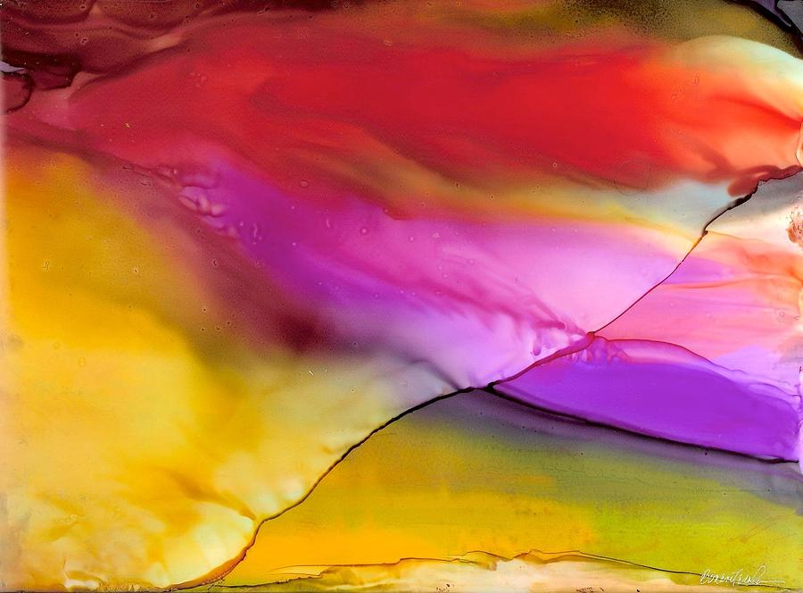 Rainbow Silk Wave Painting by Alexis Bonavitacola