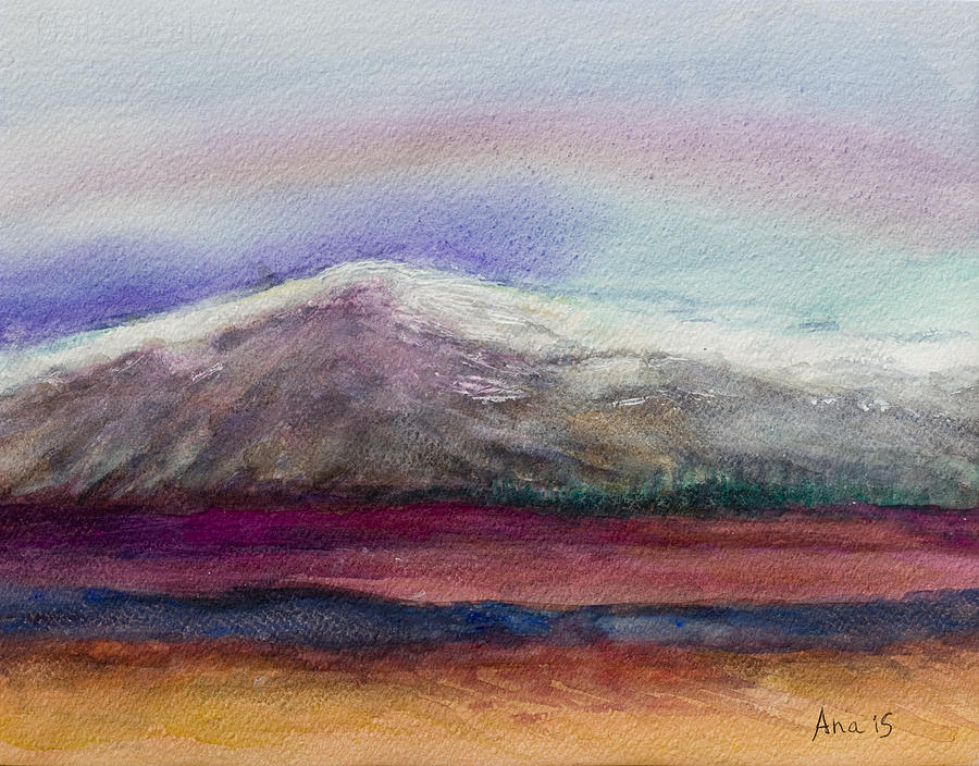 Rainbow Painting - Rainbow Sky In Alaska by Anais DelaVega
