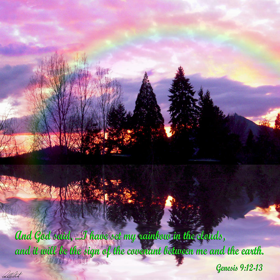 Rainbow Sunset Genesis Photograph