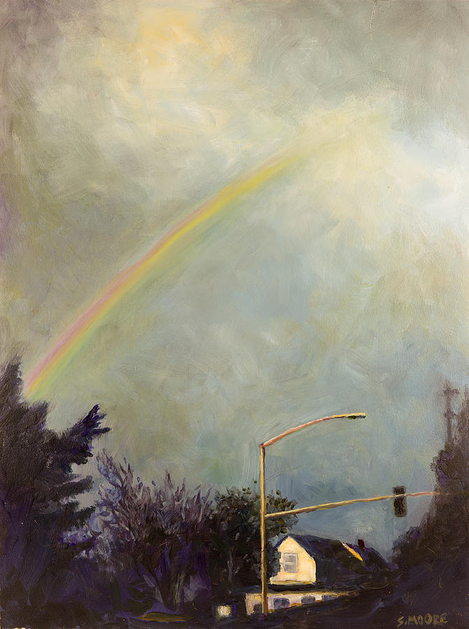 Rainbow Painting - Rainbow by Susan Moore