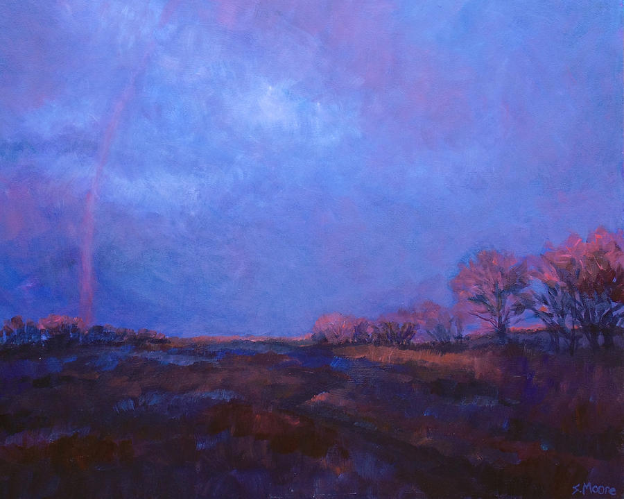 Lanscape Painting - Rainbow Too by Susan Moore