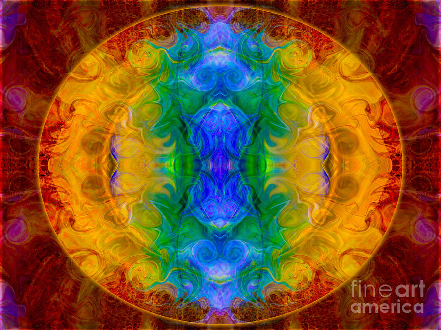 4x3 Digital Art - A Rainbow Of Chaos Abstract Mandala Artwork By Omaste Witkowski by Omaste Witkowski