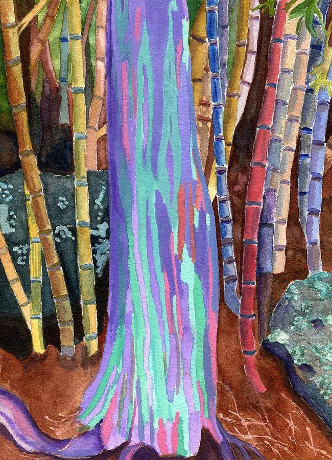 Rainbow Tree Painting By Lynne Reichhart