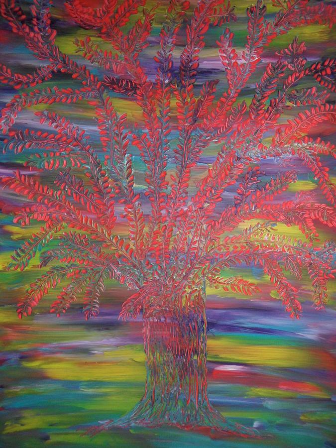 Nico Painting - Rainbow Tree by Nico Bielow