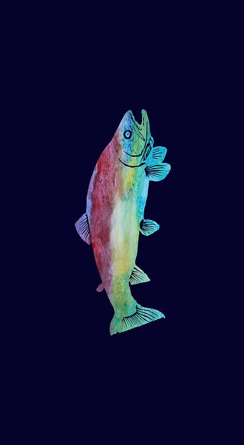 Trout Mixed Media - Rainbow Trout by Jenny Armitage