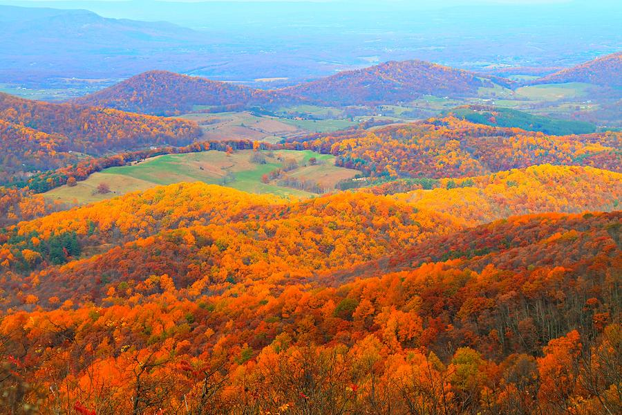 Autumn Photograph - Rainbow Valley by Candice Trimble