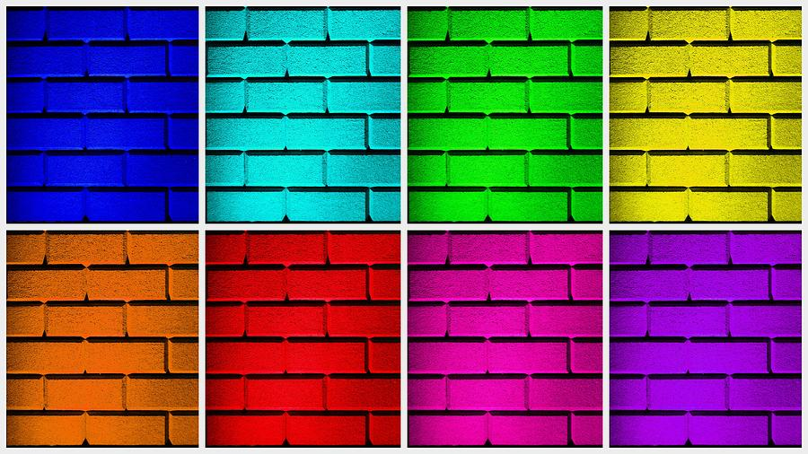 Blue Photograph - Rainbow Walls by Semmick Photo