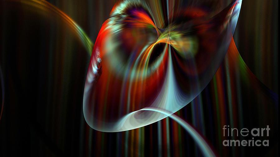 Nicholls Digital Art - Rainbow Waterfall by Peter R Nicholls