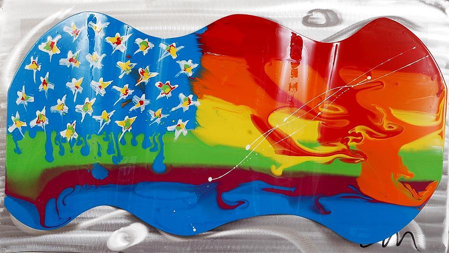 Welded Sculpture - Rainbow Wave - Edition 3 by Mac Worthington