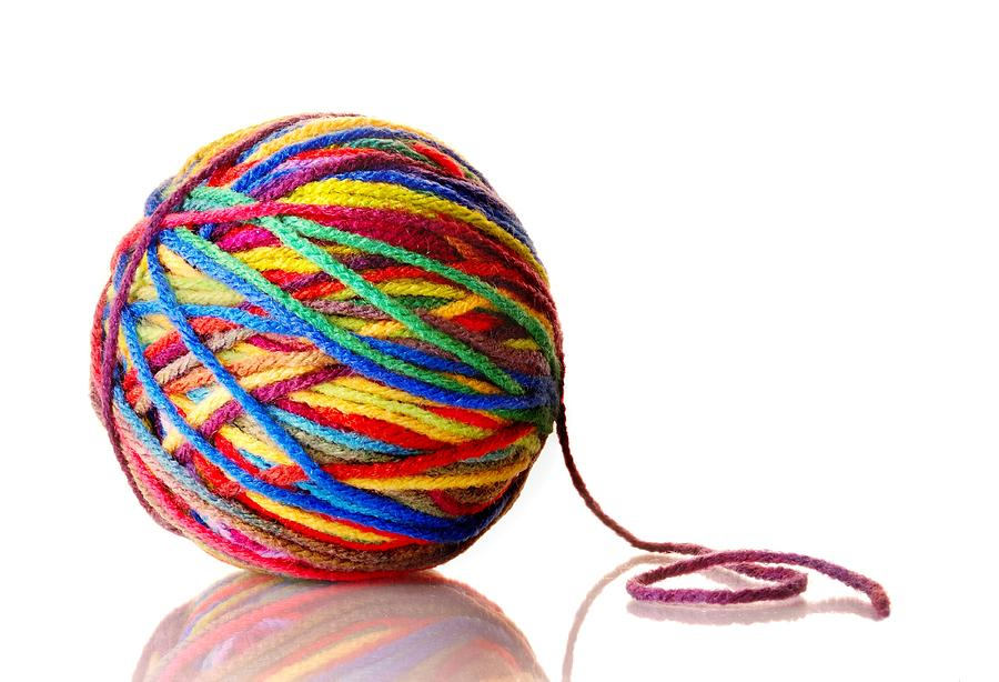 Round Photograph - Rainbow Yarn by Jim Hughes