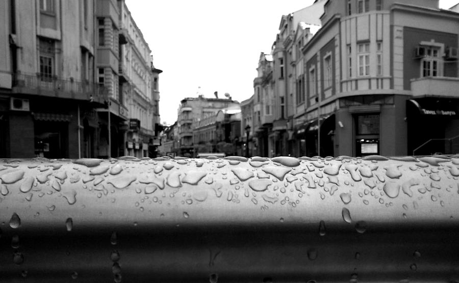 Rain Photograph - Raindrops by Lucy D