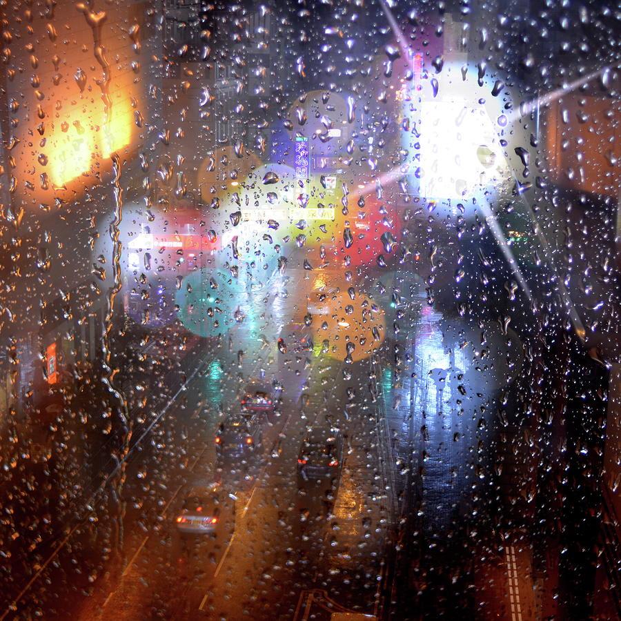 Raindrops Photograph by Rogvon Photos