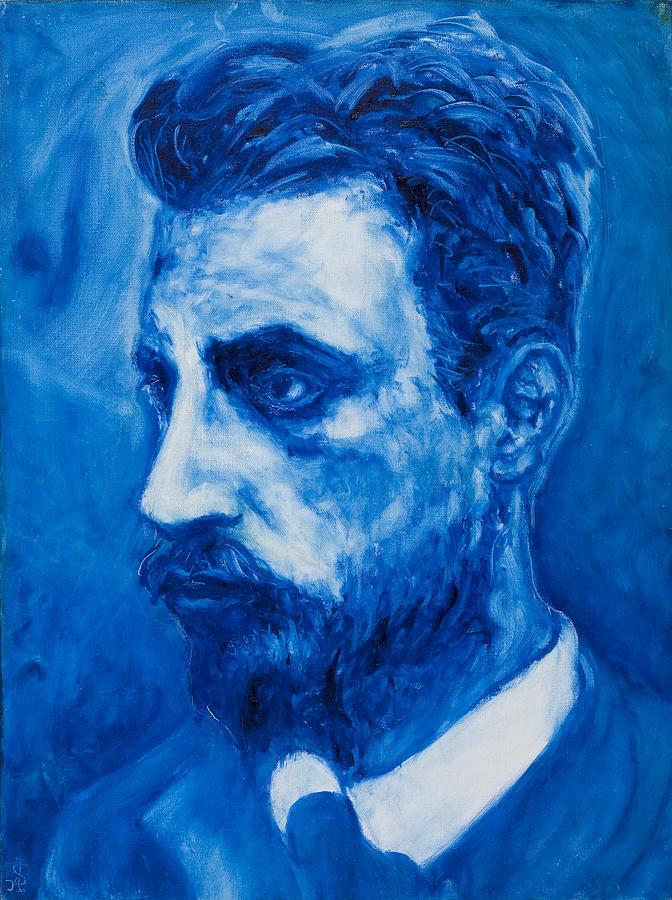 Sviatoslav Painting - Rainer Maria Rilke by Sviatoslav Alexakhin