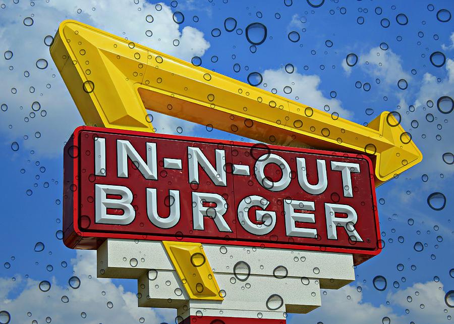 50s Photograph - Raining Cali Classic Burgers by Stephen Stookey
