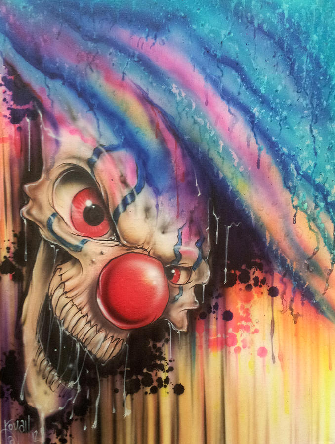 Colorful Painting - Raining Fear by Mike Royal