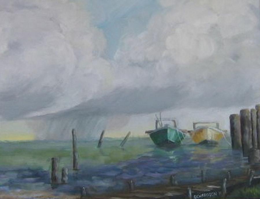 Island Painting - Raining On St. George by Susan Richardson