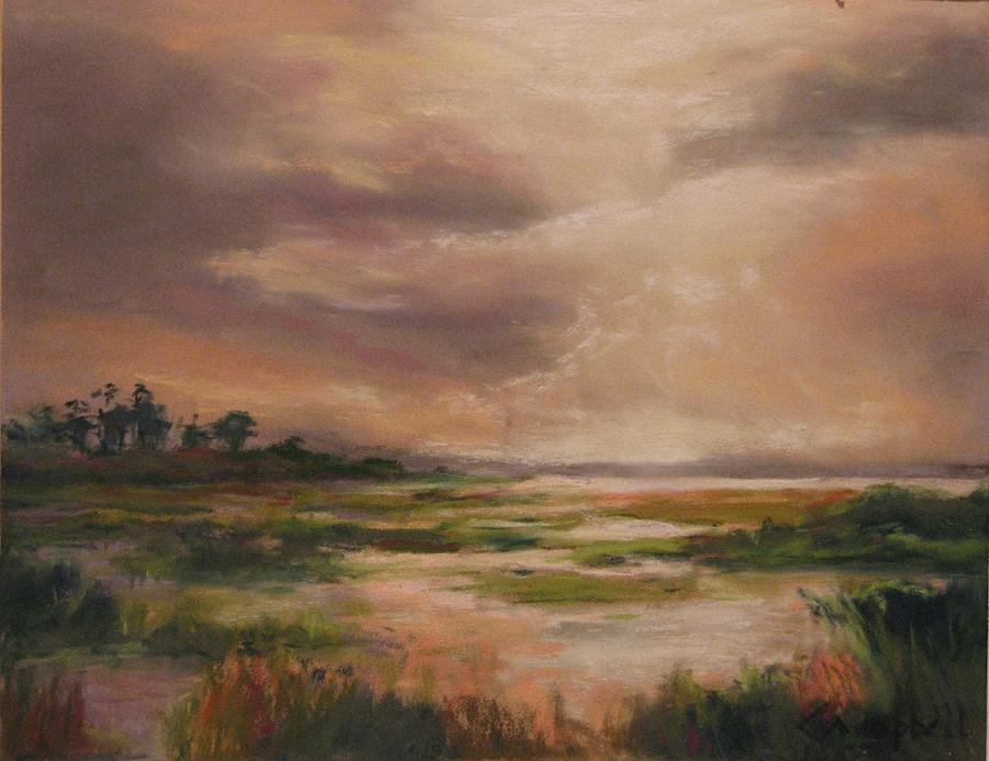 Landscape Painting - Rainmaker by Cecelia Campbell