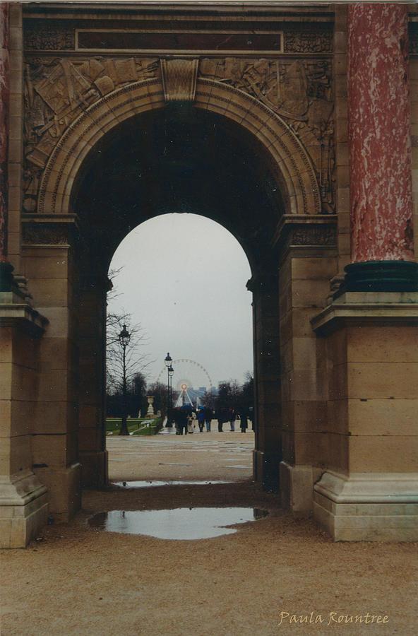 Paris Photograph - Rainy Day In Paris by Paula Rountree Bischoff