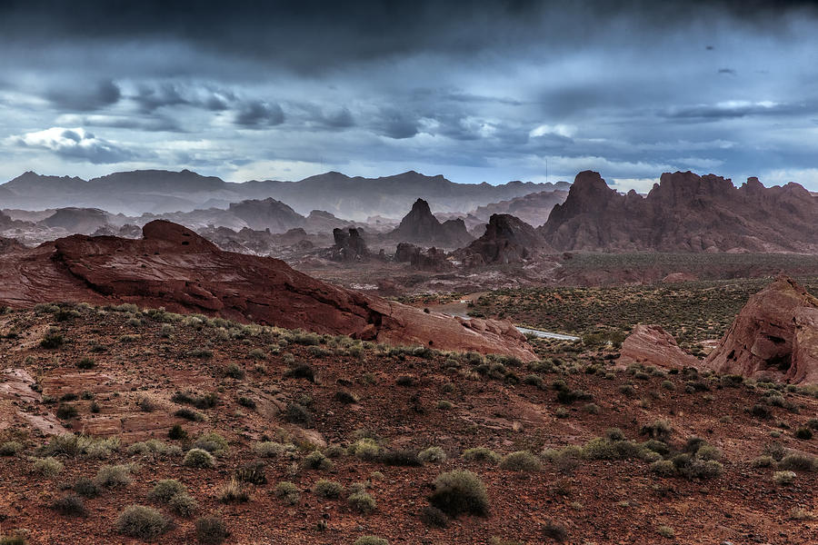 Valley Of Fire Photograph - Rainy Day In The Desert by Rick Berk