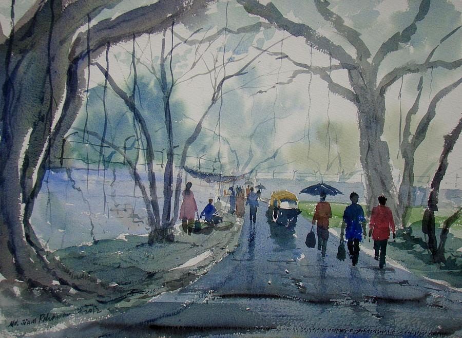 Rainy Day Painting By Jiaur Rahman