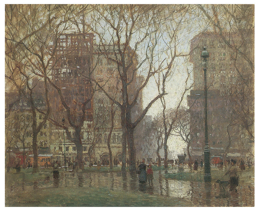 Paul Cornoyer Painting - Rainy Day Madison Square New York by Paul Cornoyer