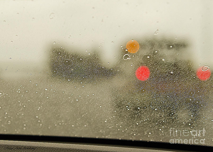 Rain Photograph - Rainy Day Perspective by MaryJane Armstrong
