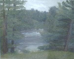 Rainy Painting - Rainy Day Plein Aire by Sheila Mashaw