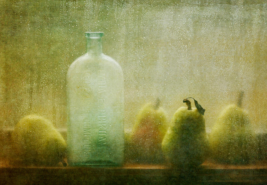 Pears Photograph - Rainy Days by Amy Weiss