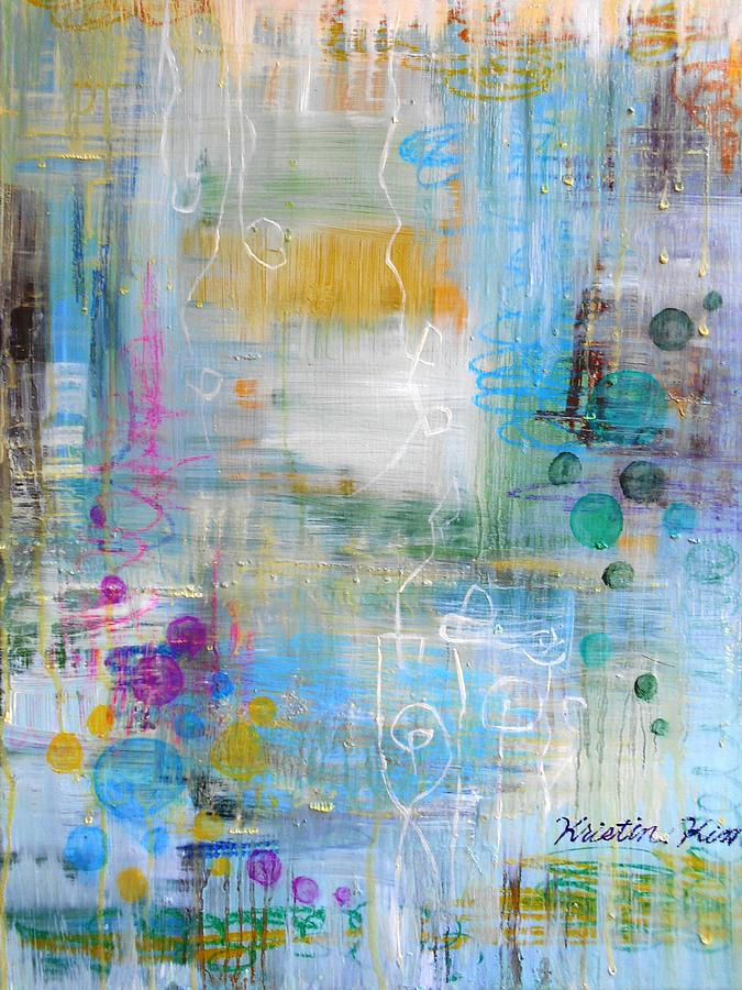 Rainy Garden Painting by Kristin Kim