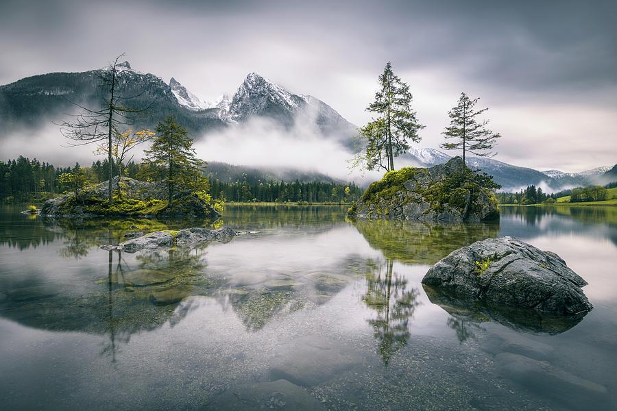 Ramsau Photograph - Rainy Morning At Hintersee (bavaria) by Dirk Wiemer