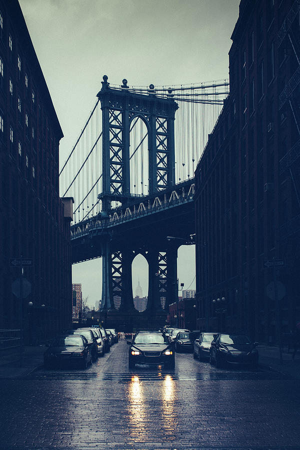 Rainy New York City Photograph by Ferrantraite