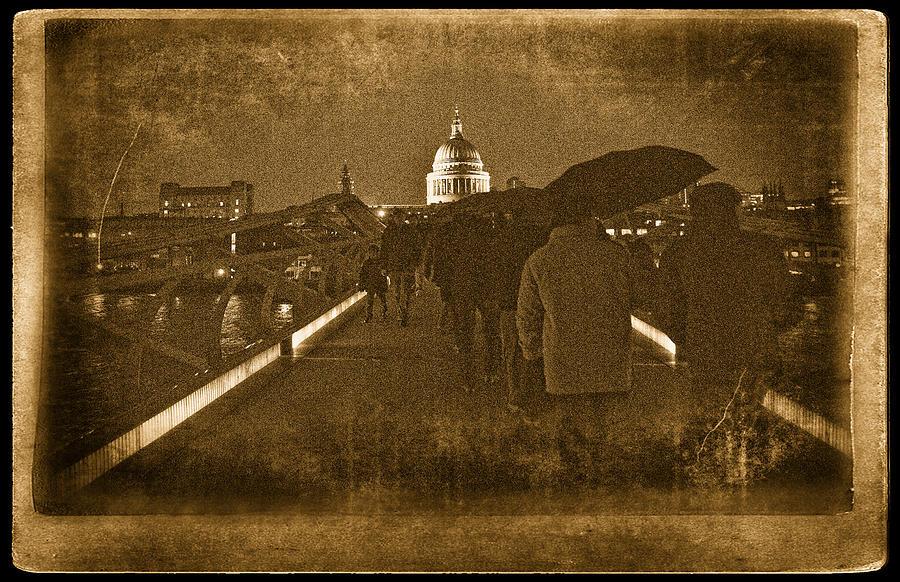 St. Paul's Church Photograph - Rainy Night by Vessela Banzourkova