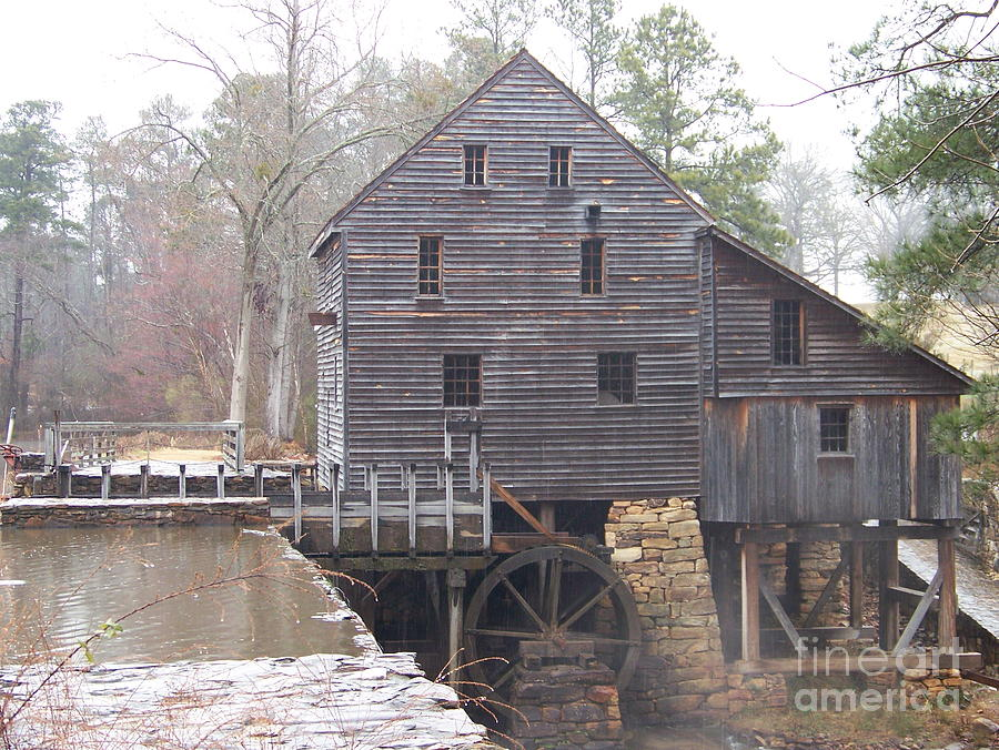 Yates Mill Photograph - Rainy Yates Mill by Kevin Croitz