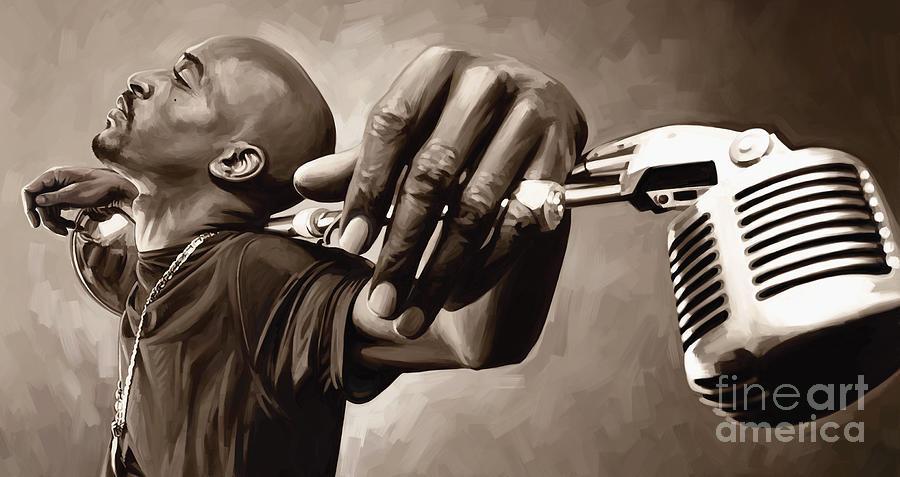 Hip Hop Prints Painting - Rakim Artwork by Sheraz A
