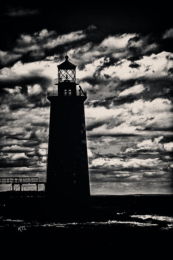 Lighthouse Photograph - Ram Island Ledge Light by Karol Livote