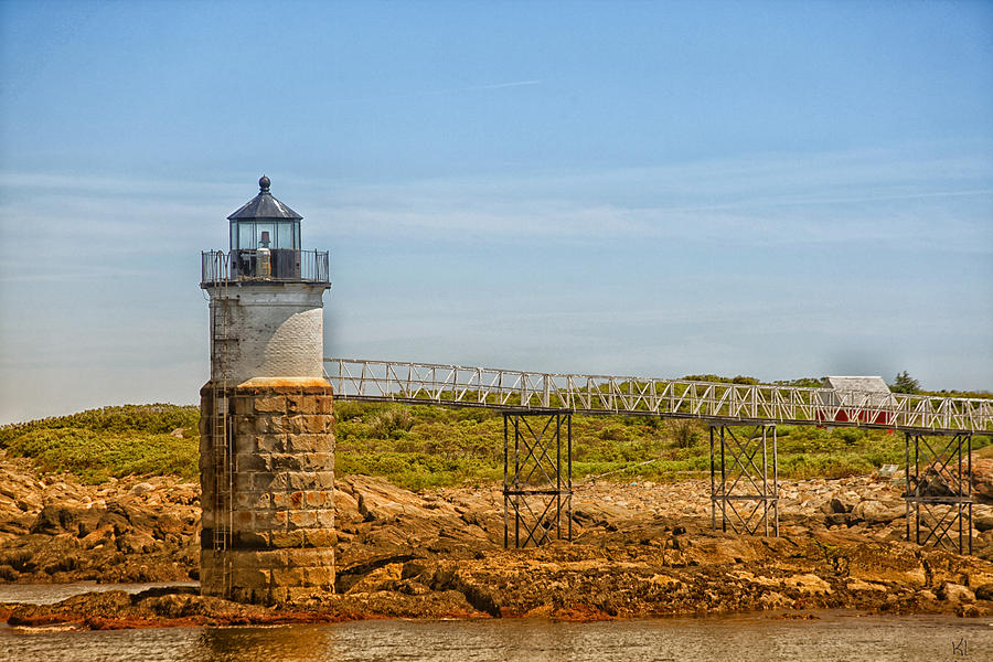 Lighthouse Photograph - Ram Island Lighthouse by Karol Livote