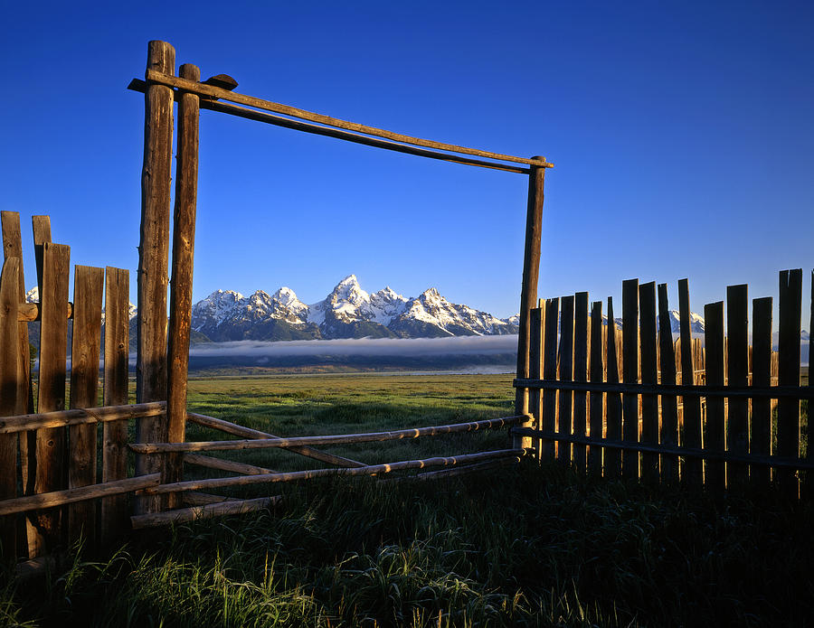Fence Photograph - Ranch Gate by Mike Norton