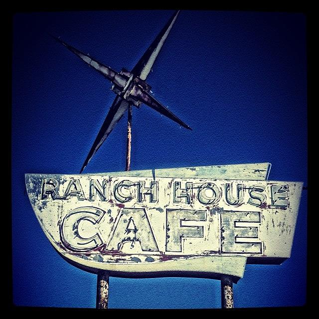 Vintage Photograph - Ranch House Cafe #sign #vintage Sign by Gia Marie Houck