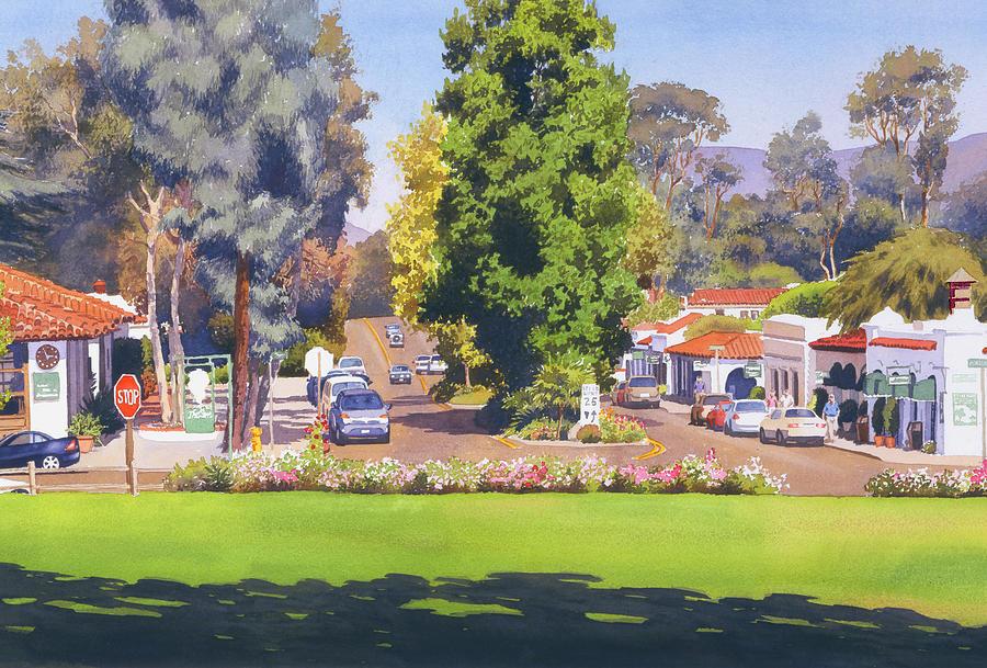 Rancho Santa Fe Painting - Rancho Santa Fe California by Mary Helmreich