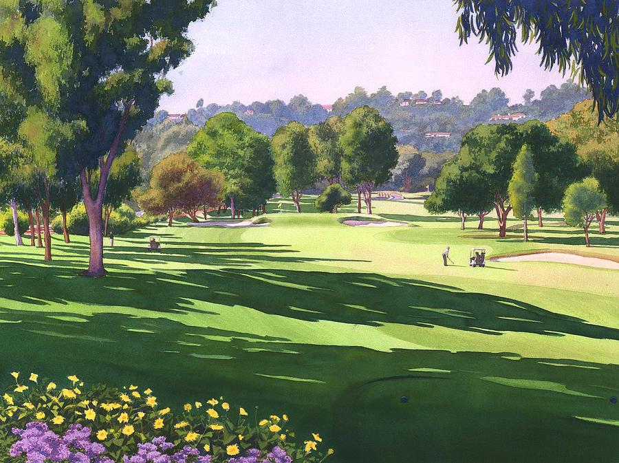 Rancho Santa Fe Painting - Rancho Santa Fe Golf Course by Mary Helmreich