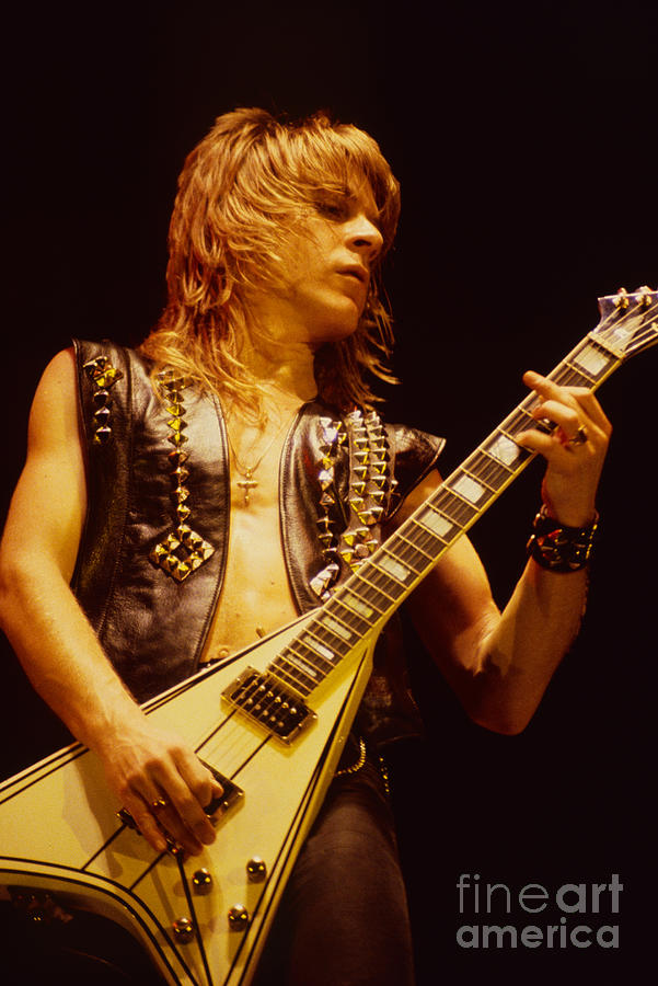 Ozzy Osbourne Photograph - Randy Rhoads At The Cow Palace In San Francisco by Daniel Larsen