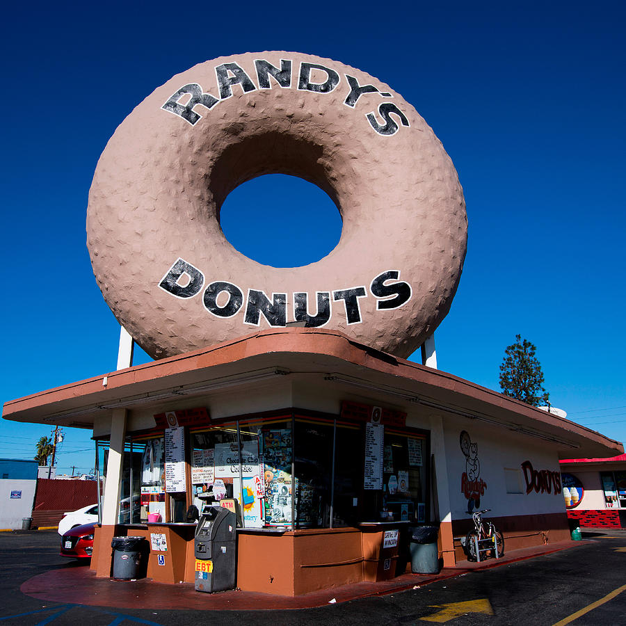 Advertising Photograph - Randys Donuts by Stephen Stookey